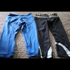 Lululemon size 4 Capri yoga pants bundle